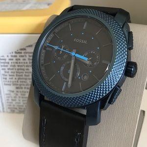 Fossil Machine Black Quartz Chronograph Dial Watch